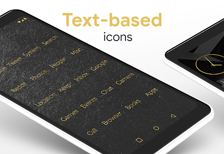 Lines Gold - Icon Pack (Pro Version) Screenshot