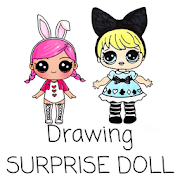 Drawing surprise doll