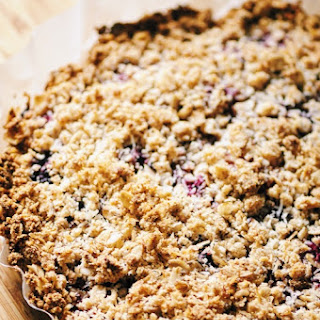 Triple Berry + Coconut Oat & Almond Crust Crumble (Gluten Free, Vegan)