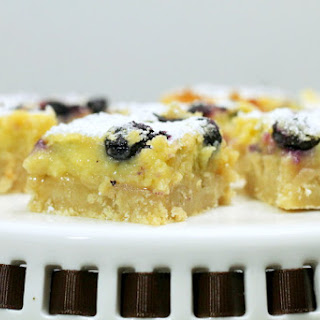 Meyer Lemon and Blueberry Bars