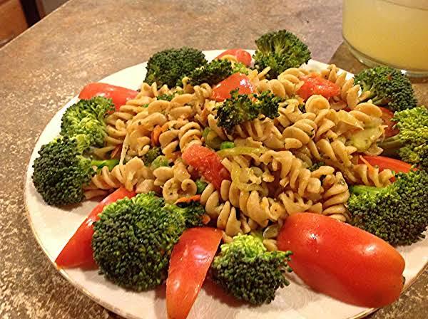 Whole Grain Pasta With Fresh Veggies Recipe