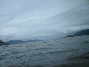 Photo: Looking northeast up Portland Inlet as I paddle across.