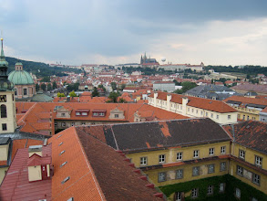 Photo: Prague Castle as seen from the top of the Klementinum (National Library)