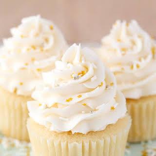 Moist Vanilla Cupcakes.