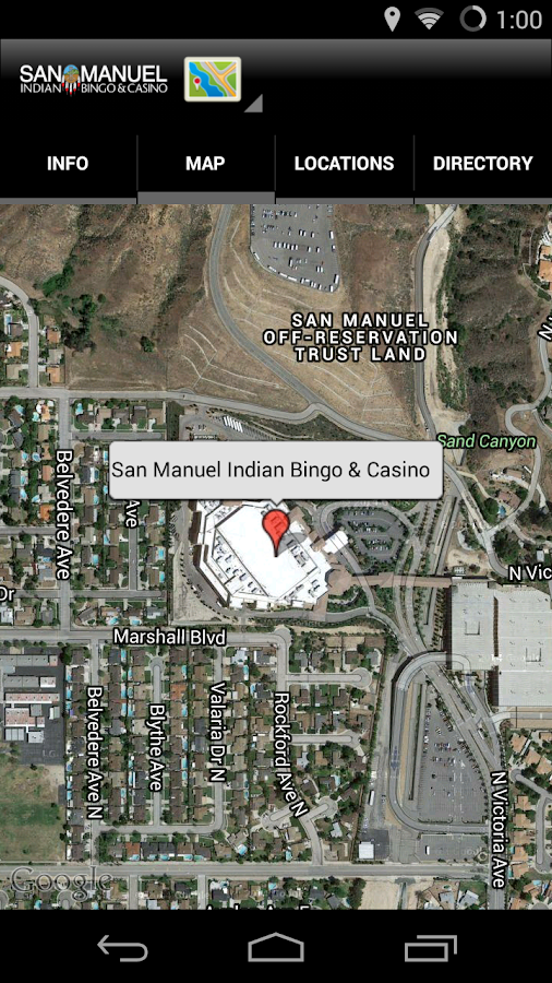 San Manuel Casino- screenshot