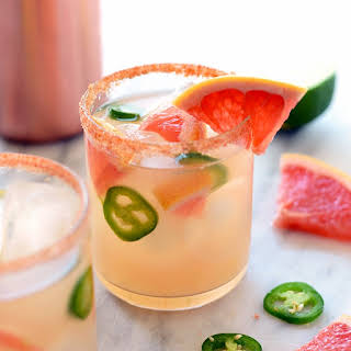 Spicy Grapefruit Margaritas.