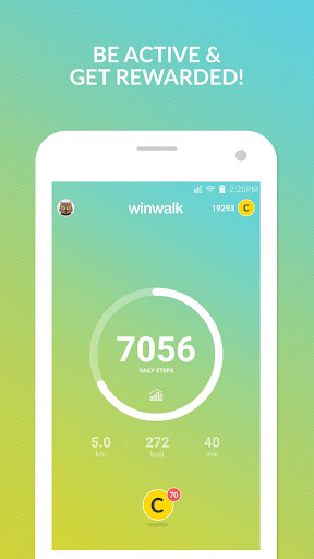 winwalk pedometer - walk, run, sweat & win rewards Fitness app screenshot 1 for Android