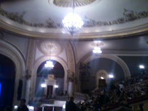 Photo: A blurry pic of the inside of Proctor's, from the upper balcony