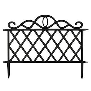 Set 3 x Gardulet pentru gradina, dreptunghiular, negru, 47x36 cm