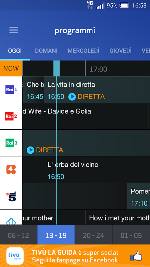 Tivù La Guida, programmi TV- screenshot