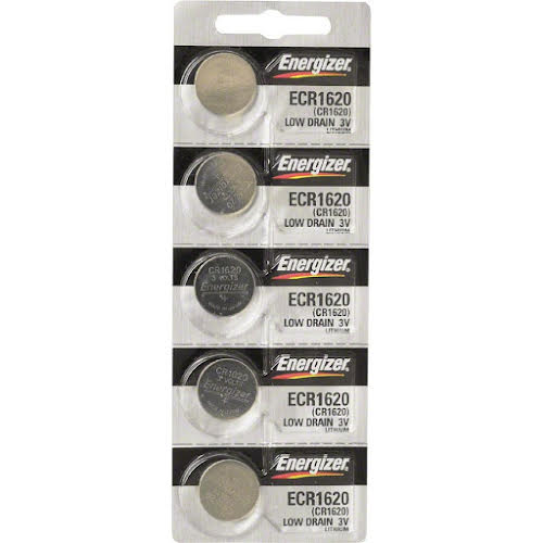Energizer CR1620 Lithium Battery Card of 5
