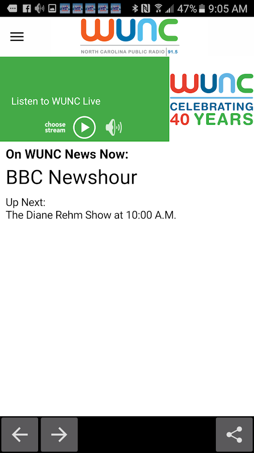 WUNC- screenshot