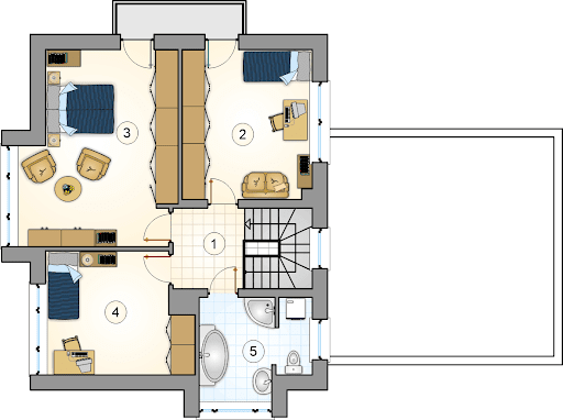 Beta - Rzut piętra