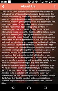 ambition radio - náhled