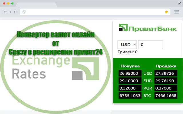 Exchange Rates Privat24