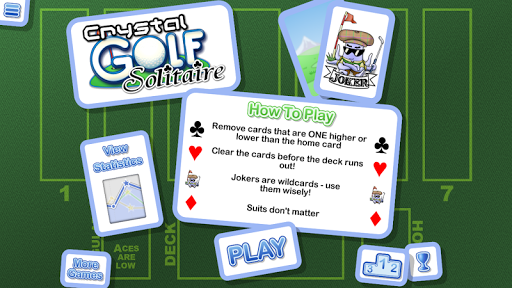 Crystal Golf Solitaire cheat screenshots 2