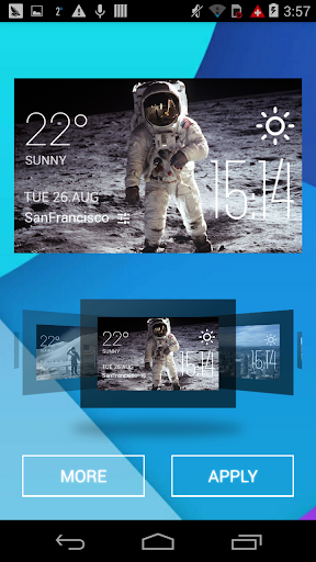 Astronaut weather widget clock