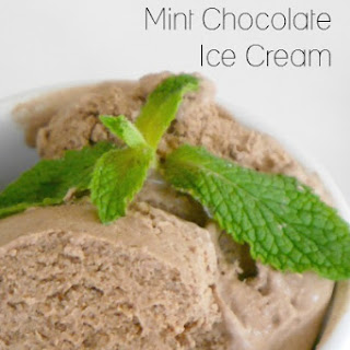 Low Carb Mint Chocolate Ice Cream.