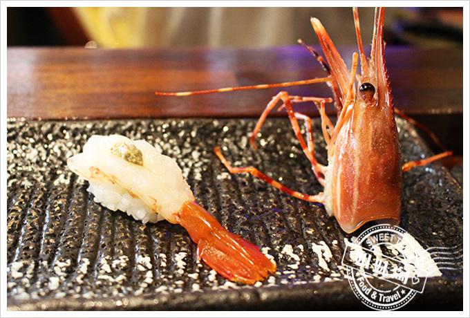 高雄 全壽司 牡丹蝦握壽司160元