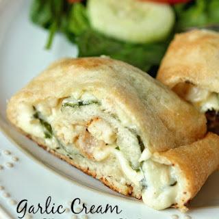 Garlic Cream Chicken Calzone