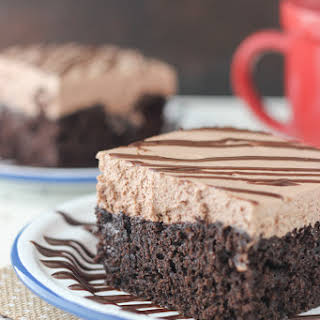 Hot Chocolate Poke Cake.