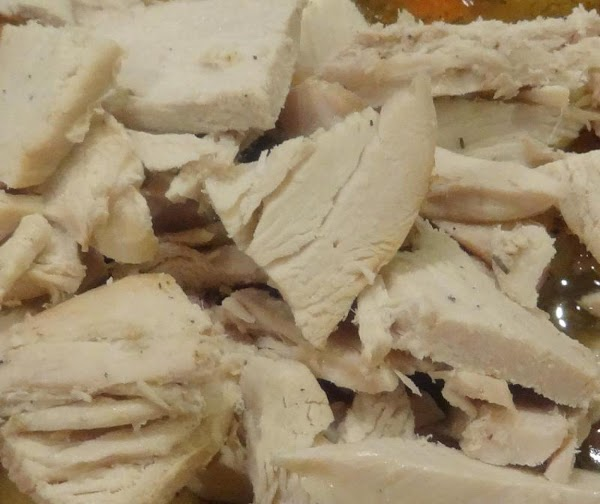 Tip: You can use white meat, roasted turkey, or dark meat, or both for...