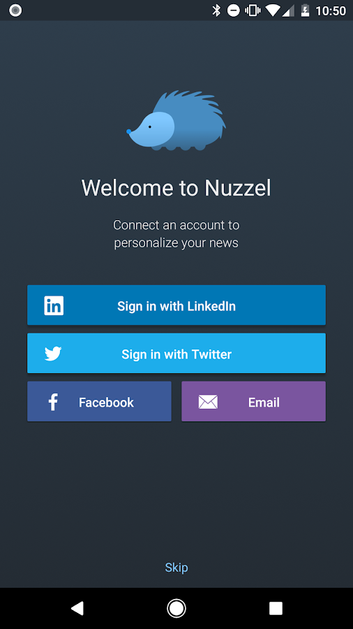 Nuzzel: News for Busy Professionals: captura de pantalla