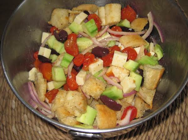 Roasted Grape Tomato Panzanella Salad Recipe