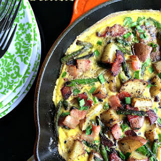 Bacon Asparagus Potato Frittata.