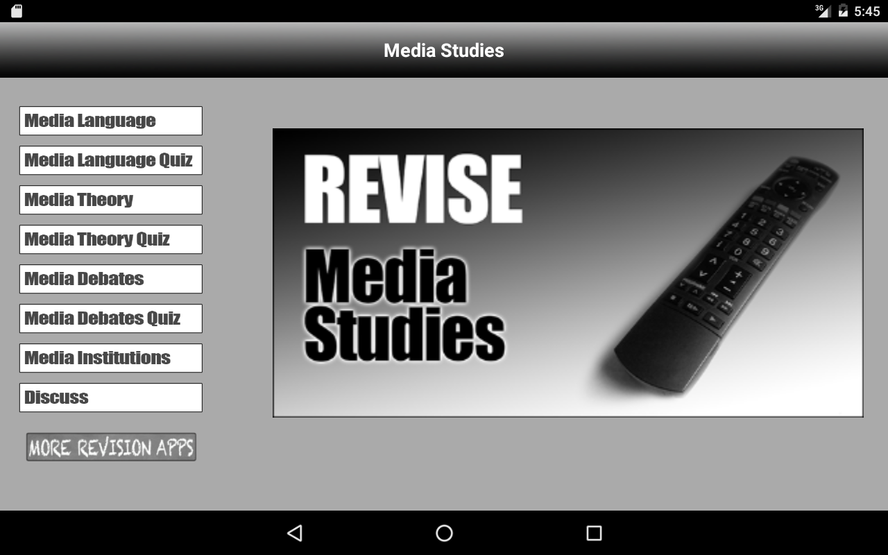 Revise Media Studies Advanced- screenshot