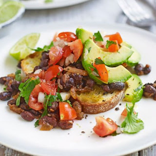 Mexican Beans & Avocado On Toast.