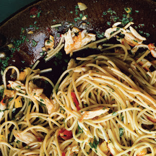 Spicy Crab Spaghettini with Preserved Lemon