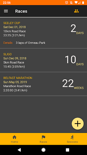 Screenshot for RunPlan in United States Play Store