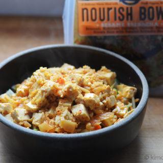Sesame Sriracha Bowl with Kimchi Tofu #SundaySupper #Nourish2Flourish.