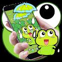 Lovely Frog Big Eye Raindrop Cartoon Theme icon