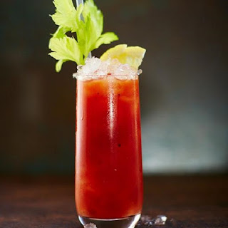 Alcoholic Cocktail Bloody Mary.