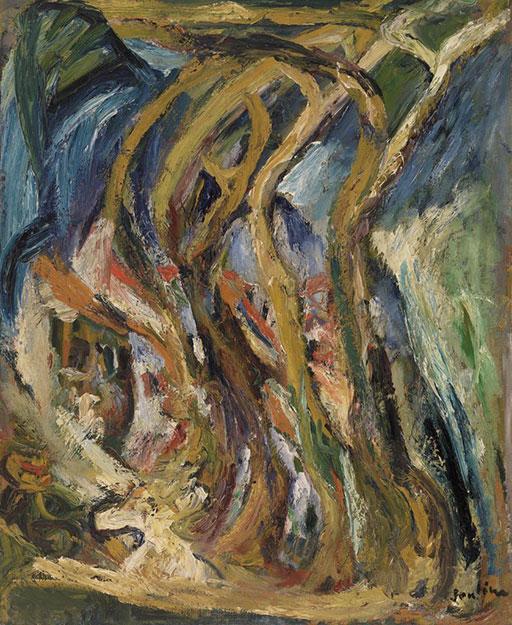 Хаим Сутин. Группа деревьев.