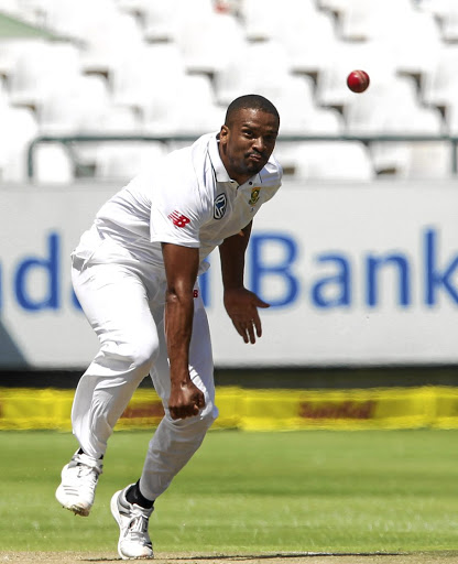 Vernon Philander fires in a delivery on his way to a basketful of wickets.