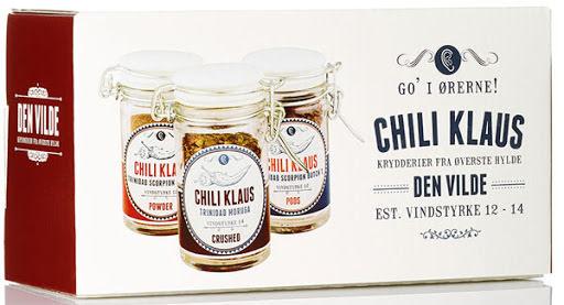 Vilde – chiliflingor, pulver & torkade chili frukter - vindstyrka 12-14 – Chili Klaus
