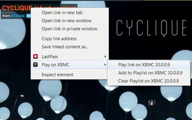 Play on XBMC