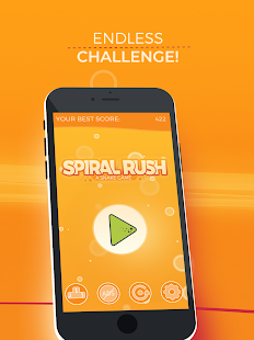 Spiral Rush: a Snake Game Screenshot