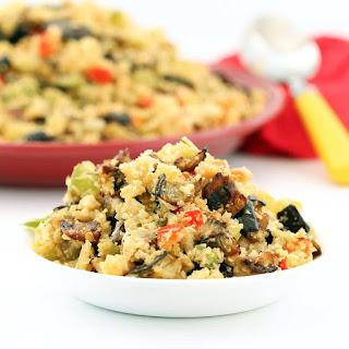 "Eggplant Cauliflower Dirty ""Rice"" (Gluten-Free, Vegan / Plant-based, Low-carb)."
