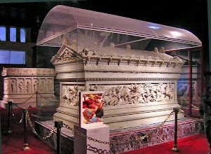 Photo: Alexander sarcophagus from Sidon, late 4th century BC