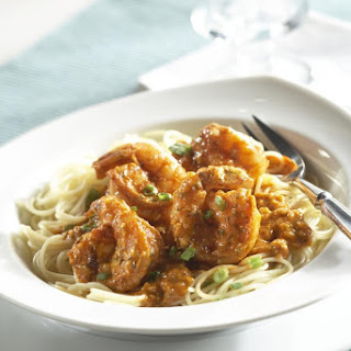 Spicy Shrimp Remoulade with Angel Hair Pasta