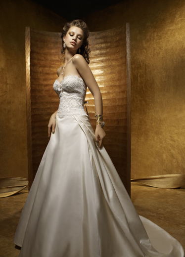 strapless satin ivory wedding dress bianca201