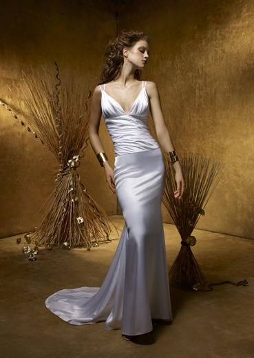White Wedding Dress With Black Trim. best strapless Wedding Dress #