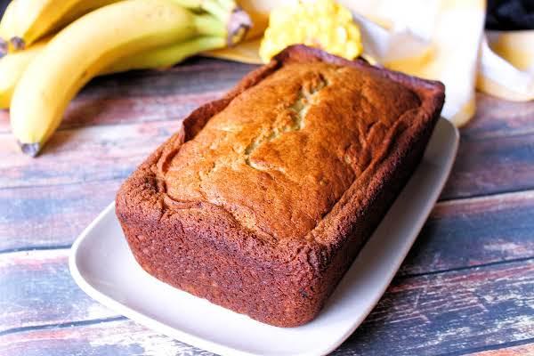 A Loaf Of Mary's Blue Ribbon Banana Bread.