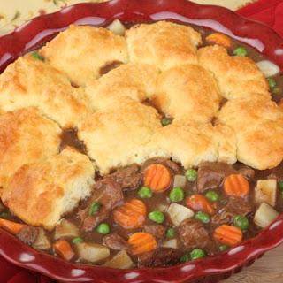 Simple Biscuit Beef Pot Pie