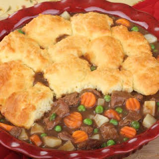 Simple Biscuit Beef Pot Pie.