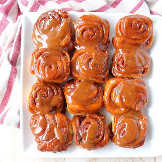 Salted Caramel Cinnamon Rolls.
